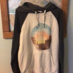 Women's hooded sweatshirt. M